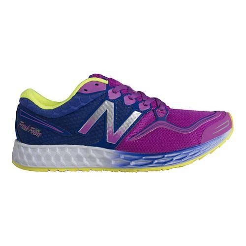 Womens New Balance Fresh Foam Zante Running Shoe - Purple/Blue 7.5
