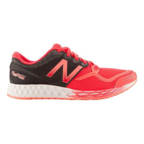 Womens New Balance Fresh Foam Zante Running Shoe - Heather Grey/Pink 10.5