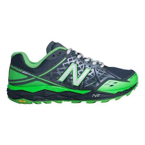 Men's New Balance T1210v2 Trail Running Shoe - Orca/Acidic Green 8