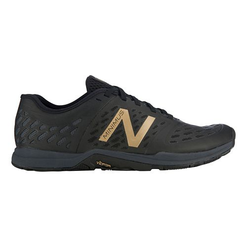 Men's New Balance Minimus 20v4 Trainer Cross Training Shoe - Black/Gold 14