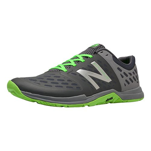Men's New Balance Minimus 20v4 Trainer Cross Training Shoe - Steel/Chemical Green 12.5