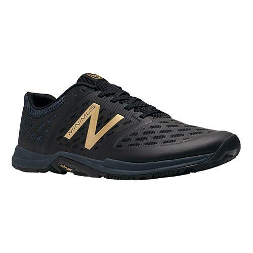 Men's New Balance Minimus 20v4 Trainer Cross Training Shoe - Black/Gold 11.5