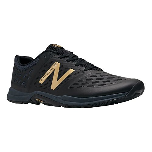 Men's New Balance Minimus 20v4 Trainer Cross Training Shoe - Black/Gold 14