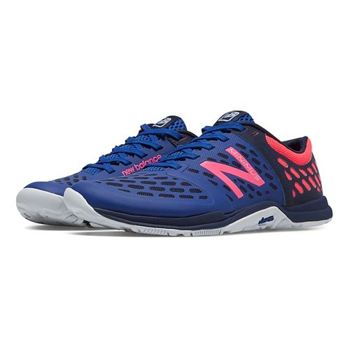 Womens New Balance Minimus 20v4 Trainer Cross Training Shoe - Blue/Pink 7.5