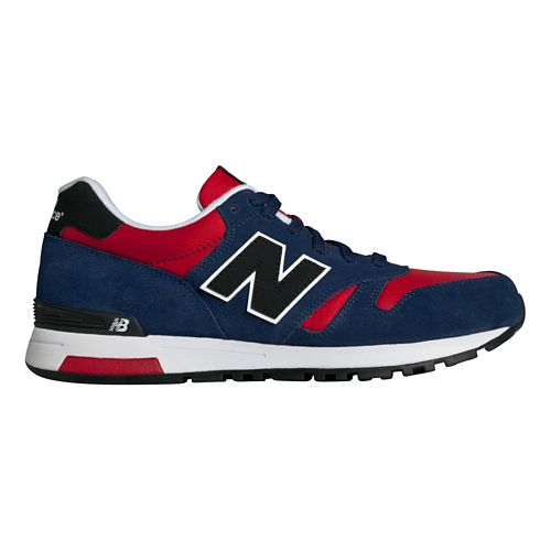 Mens New Balance 565 Casual Shoe - Red/Navy 11