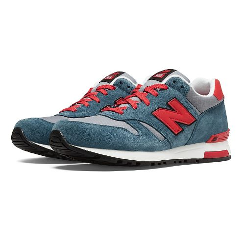 Mens New Balance 565 Casual Shoe - Navy/Red 10.5
