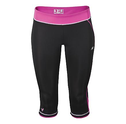 Womens New Balance Komen Capri Tights
