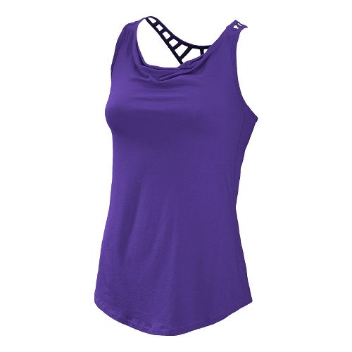 Womens New Balance Anue Chai Tank Tanks Technical Tops - Deep Blue S