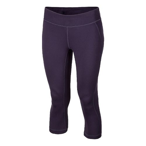 Womens New Balance Anue Spree Capri Capri Tights - Mullberry L