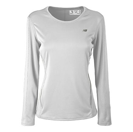 Womens New Balance Tempo Long Sleeve 2.0 No Zip Technical Tops