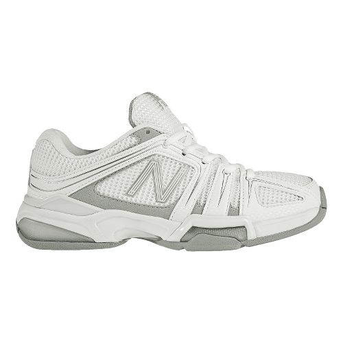 Womens New Balance 1005 Court Shoe - White/Silver 5.5