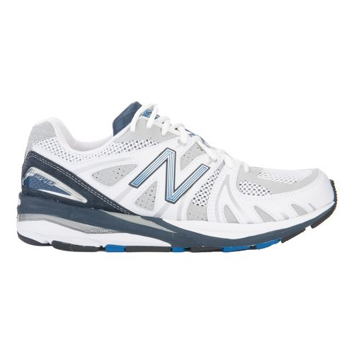 Mens New Balance 1540 Running Shoe - White/Blue 12.5