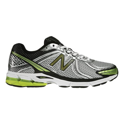 Mens New Balance 770 Running Shoe - Silver/Lime 7.5
