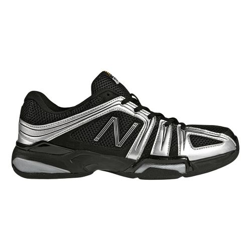 Mens New Balance 1005 Court Shoe - Black/Silver 10