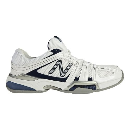 Mens New Balance 1005 Court Shoe - White/Blue 10.5