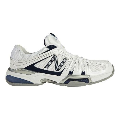 Mens New Balance 1005 Court Shoe - White/Blue 7.5