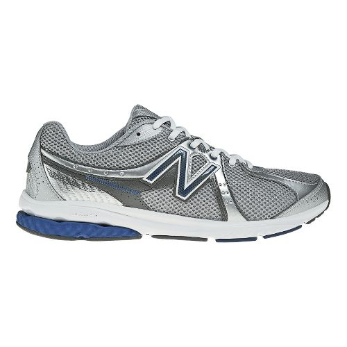 Mens New Balance 665 Walking Shoe - Silver/Blue 10.5