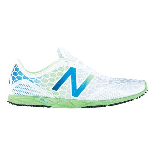 Mens New Balance 5000 Racing Shoe - White/Green 11.5