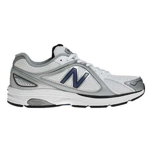 Mens New Balance 847 Walking Shoe - White/Navy 10.5