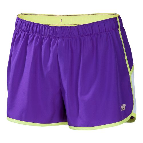Womens New Balance Momentum Lined Shorts - Amethyst S