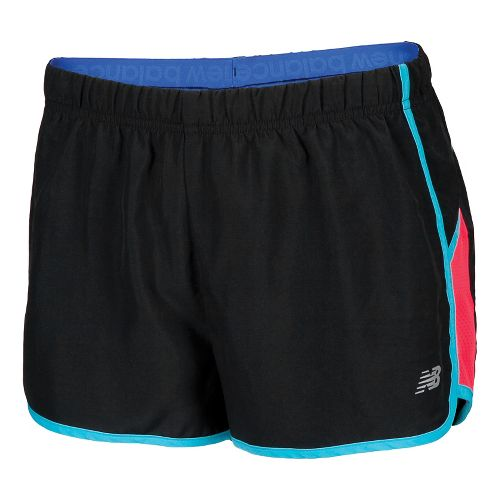 Womens New Balance Momentum Lined Shorts - Blue Atoll M