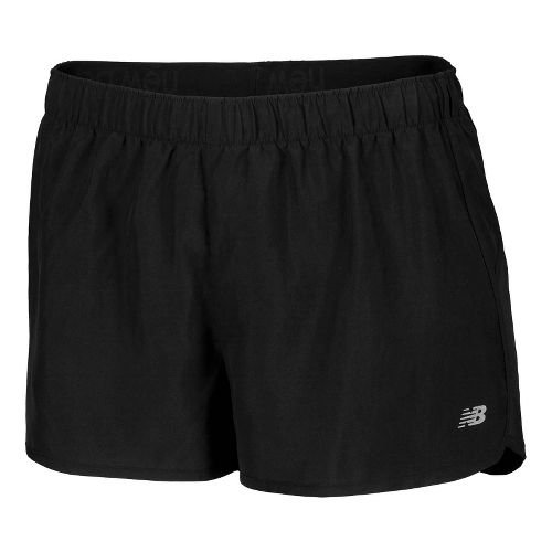 Womens New Balance Momentum Lined Shorts - Black/Azurite XXL
