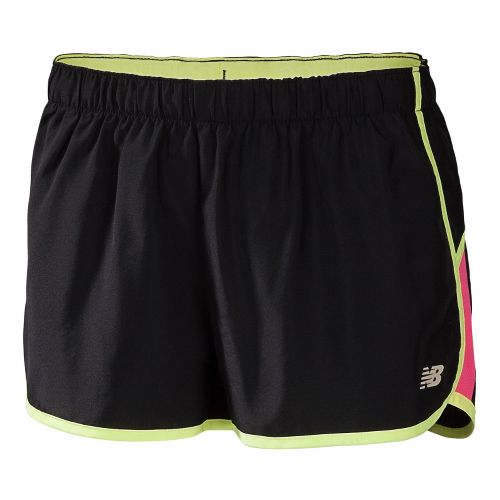 Womens New Balance Momentum Lined Shorts - Black/Watermelon M