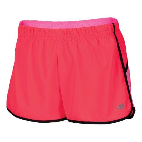 Womens New Balance Momentum Lined Shorts - Diva Pink XS