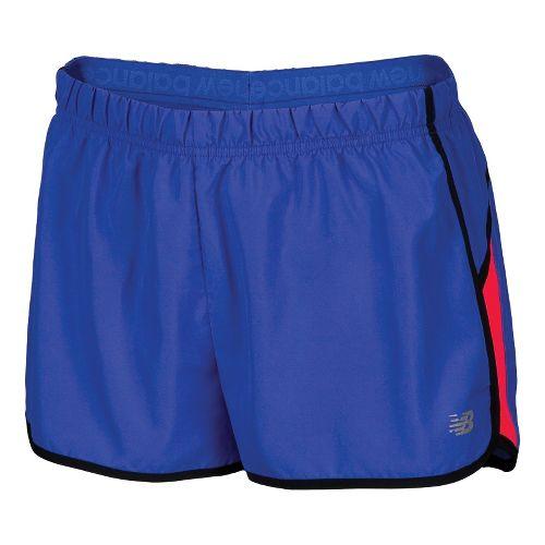 Womens New Balance Momentum Lined Shorts - Dazzling Blue XS