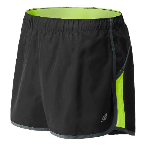 Womens New Balance Momentum Lined Shorts - Hi-Lite M