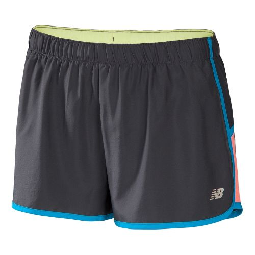 Womens New Balance Momentum Lined Shorts - Magnet/Poolside XS