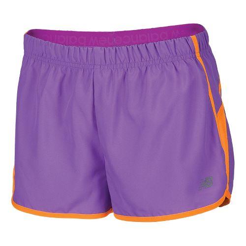 Womens New Balance Momentum Lined Shorts - Purple Cactus Flower S
