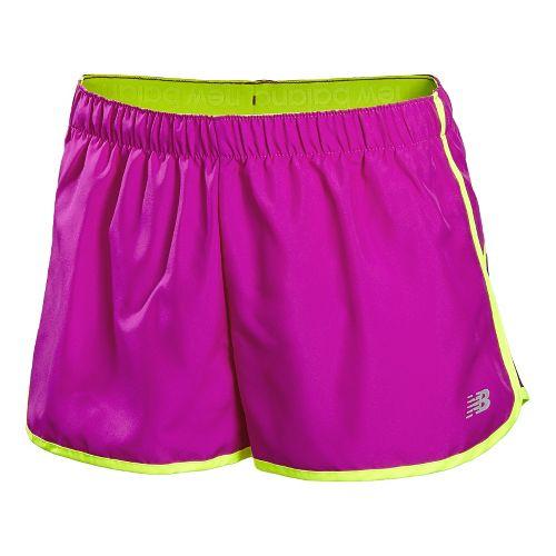 Womens New Balance Momentum Lined Shorts - Poisonberry L