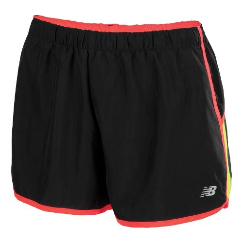 Womens New Balance Momentum Lined Shorts - Sulpher Spring/Black XL