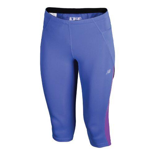 Womens New Balance Go to Capri Pants - Azurite XL