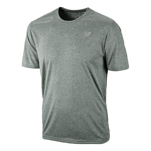 Mens New Balance Heathered Short Sleeve Technical Tops - Black L
