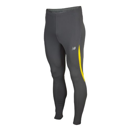 Mens New Balance Go 2 Fitted Tights - Atomic Yellow M