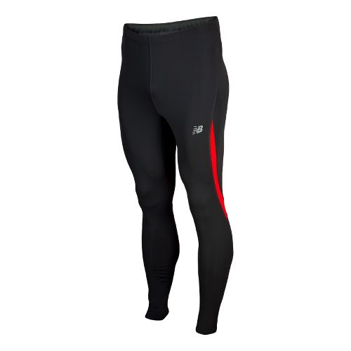 Mens New Balance Go 2 Fitted Tights - Velocity Red L