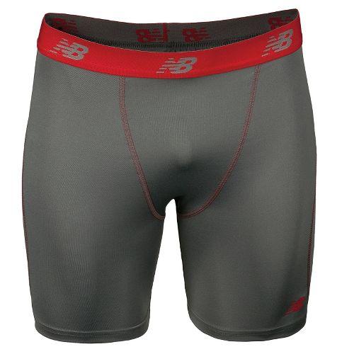 Mens New Balance Trubase Perf Short Boxer Brief Underwear Bottoms - Asphalt M