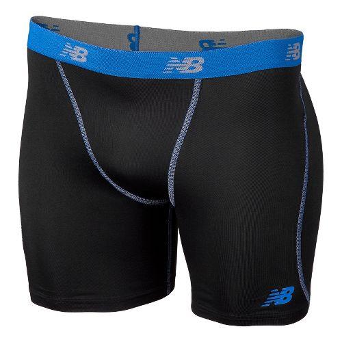 Mens New Balance Trubase Perf Short Boxer Brief Underwear Bottoms - High Vis Yellow L ...