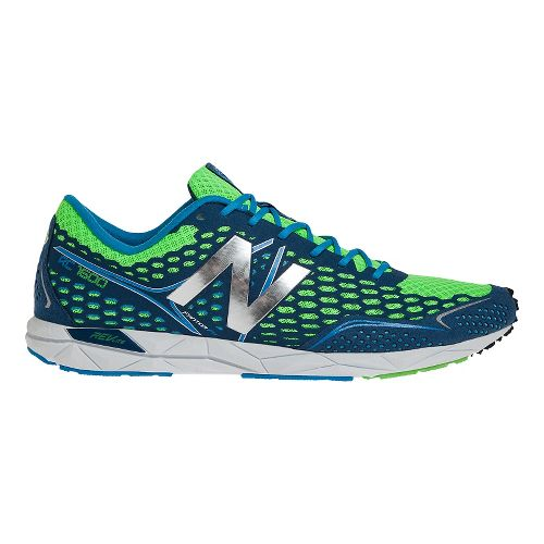 Mens New Balance 1600 Racing Shoe - Blue/Green 11.5