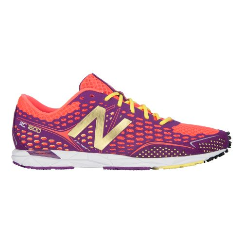 Womens New Balance 1600 Racing Shoe - Purple/Coral 12