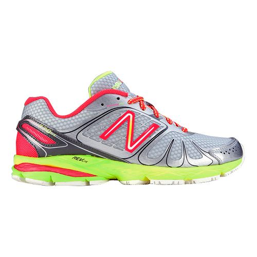 Womens New Balance 770v4 Running Shoe - Silver/Yellow 7.5