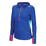 Womens New Balance Impact Hoodie Long Sleeve 1/2 Zip Technical Tops