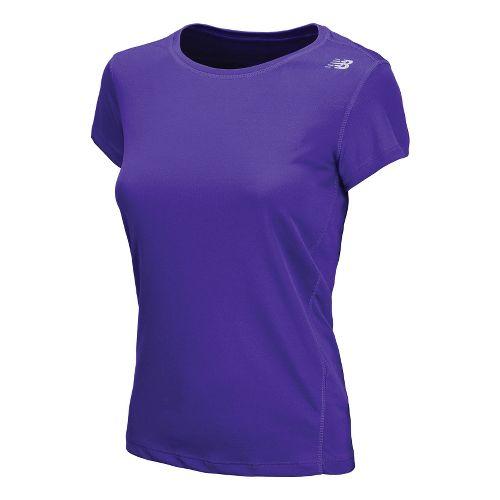 Womens New Balance Go 2 Short Sleeve Technical Tops - Azurite S