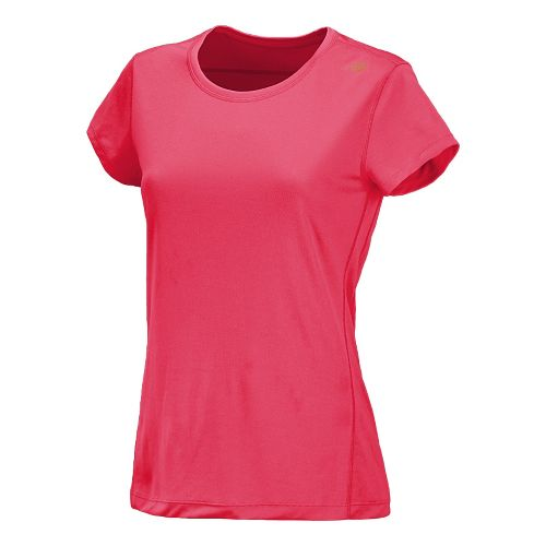 Womens New Balance Go 2 Short Sleeve Technical Tops - Watermelon XL