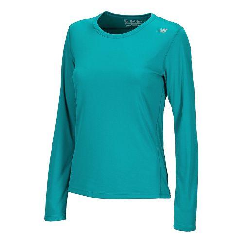 Womens New Balance Go 2 Long Sleeve No Zip Technical Tops - Capri Breeze XS ...