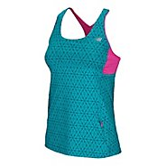 Womens New Balance Tonic Top Print Tanks Technical Tops