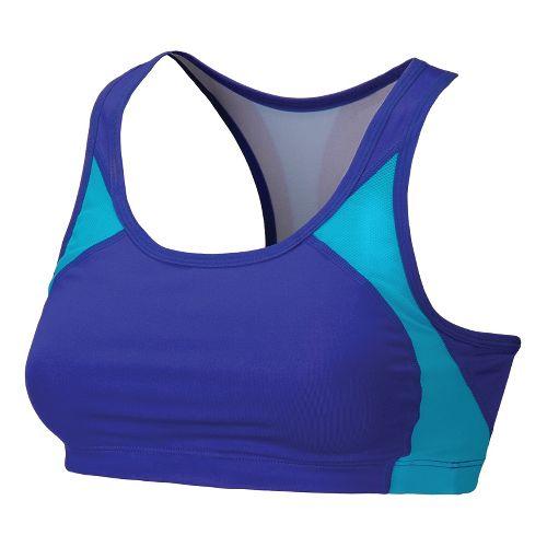Womens New Balance The Fabulous Framer I Sports Bras - Dazzling Blue L