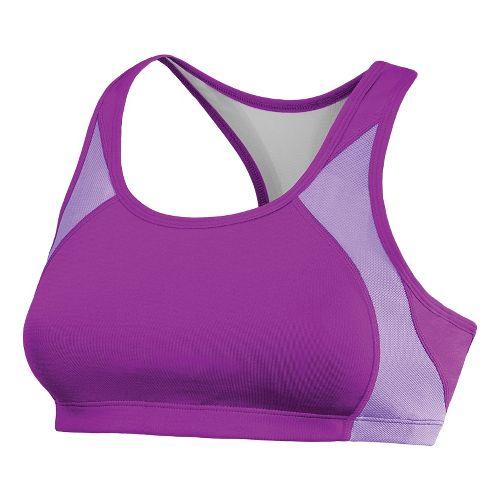 Womens New Balance The Fabulous Framer Sports Bras - Purple Cactus Flower S